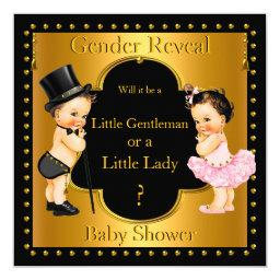 Gender Reveal Baby Shower Boy or Girl Lt Brunette