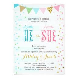Gender reveal  Baby shower He or She