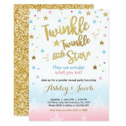 Gender reveal  Baby shower Twinkle Star