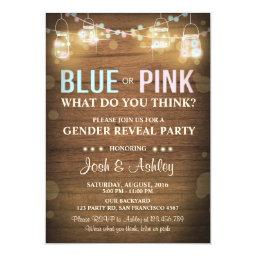 Gender reveal party  Rustic Wood Shower