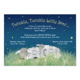 Gender Reveal Party Twinkle Little Star Cute Sheep