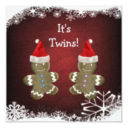 Gingerbread Twins Christmas Baby Shower