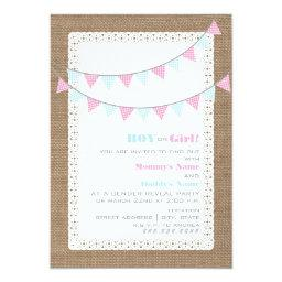 Gingham Bunting Gender Reveal Party