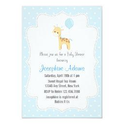 Giraffe Baby Shower  Blue