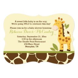 Giraffe Baby Shower  Gender Neutral