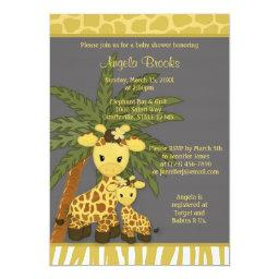 Giraffe   Mommy Gray Yellow