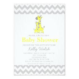 Giraffe Baby Shower  Chevron
