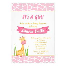 Giraffe Girl  Invitation