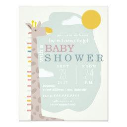 Giraffe Modern Neutral Baby Shower