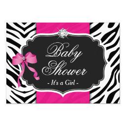 Girl  - Elegant Zebra Print Hot Pink