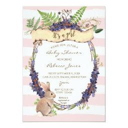 girl baby shower  forest rabbit bunny