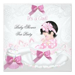 Girl  Pink Baby Teacup Tea Party