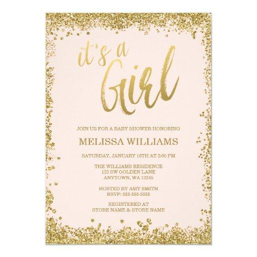 glitter baby shower invitations  babyshowerinvitationsu, Baby shower