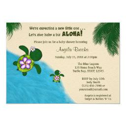 GIRL Sea TURTLE  Invite PURP (Honu) 04A