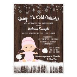 Girls Baby its Cold Outside Winter Baby Shower