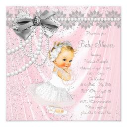 Girls Pink Satin Pearl Little Lady