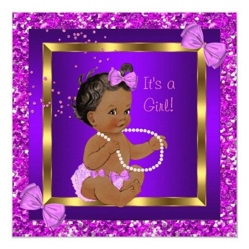 Glitter  Girl Purple Pink Ethnic