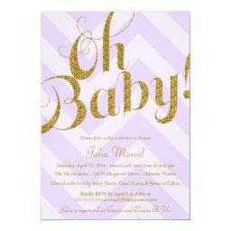 Glitter   with Purple Chevron
