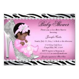 Glitter Shoe Baby Girl Baby Shower Ethnic