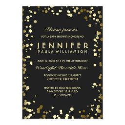 Gold and Black Confetti Dots Vintage