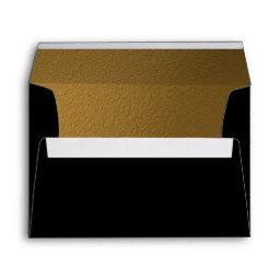 Gold & Black | Elegant Wedding Celebration Envelope