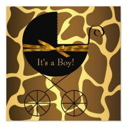 Gold Brown Carriage Boy Giraffe