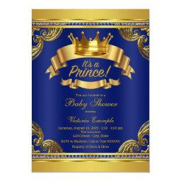 Gold Crown Royal Blue Prince Baby Shower