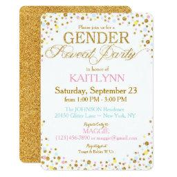 Gold Glitter Blue Pink Yellow Sprinkle Baby Shower