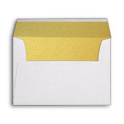 Gold lined Envelope for Wedding