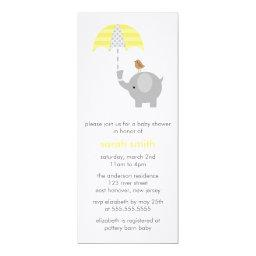 Gray and Yellow Elephant Baby Shower