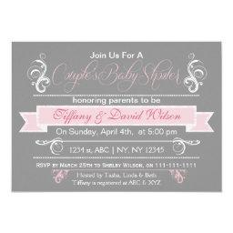 gray pink Couple's Baby shower