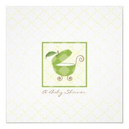 Green Apple Baby Carriage Shower