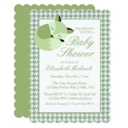 Green Baby Shower Fox