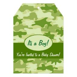 Green Camo Camouflage Boy Baby Shower