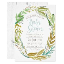 Green Garden | Watercolor  Invite