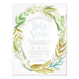 Green Garden | Watercolor Baby Shower Magnetic Magnetic