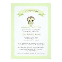 Green Owl Bring a Book Baby Shower