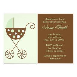 Green Stroller Neutral  Invites