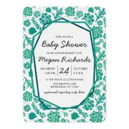 Green Watercolor Succulent Baby Shower