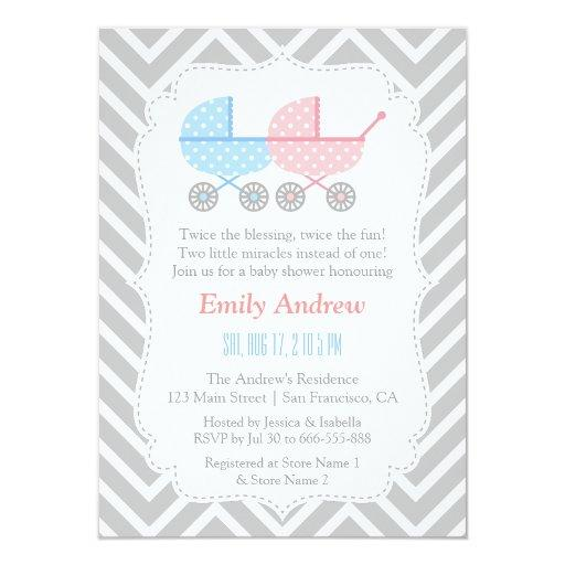 Grey Chevron Strollers Twins