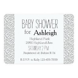 Grey Leopard Print baby shower