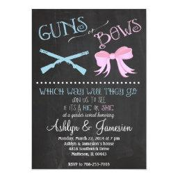 Guns or Bows Gender Reveal Party