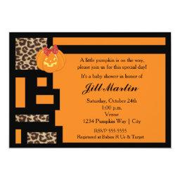 Halloween Orange & Leopard Baby Shower