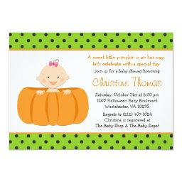 Halloween Pumpkin Baby Girl Shower