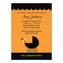 Halloween Stroller Baby Shower