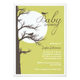 Halloween Themed Baby Shower Bird Tree Silhouette