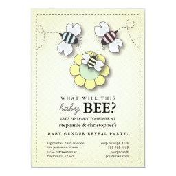 Happy Bee Family Couples Baby Gender Reveal Party