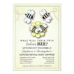 Happy Bee Family Twins Gender Reveal