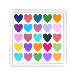 Hearts of All Kinds Acrylic Tray