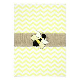 Honey Bee ZigZag Baby Shower